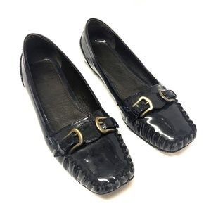 Fendi Navy Blue Loafers Shoes